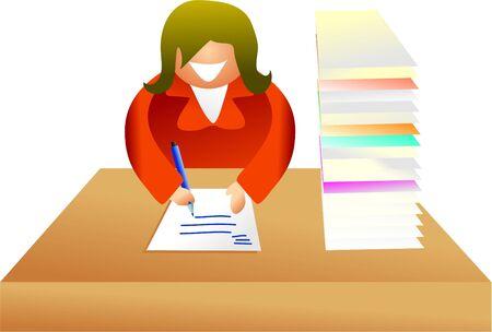 paperwork - icon people series Stock Photo - 382164