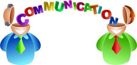 communication brain - icon people series Stock Photo - 382167