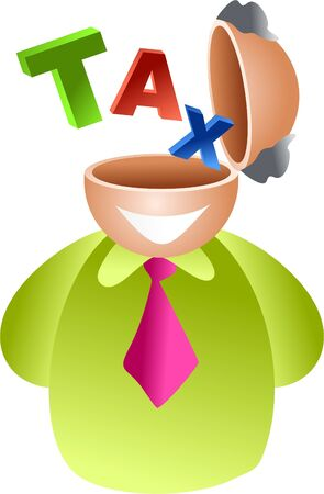 tax brain - icon people series Stock Photo - 382171