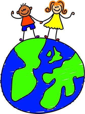 globe kids - toddler art series Stock Photo - 382185
