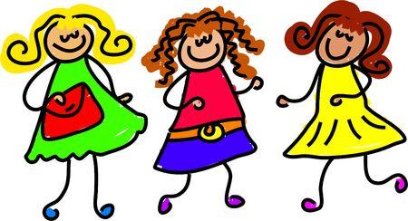 friendship - toddler art series Stock Photo - 382190