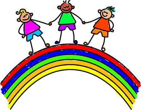 rainbow kids - toddler art series Stock Photo - 391270