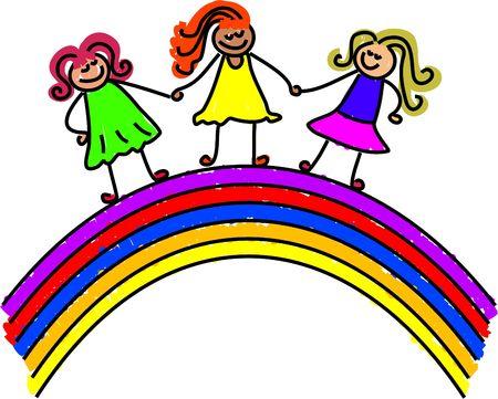 rainbow kids - toddler art series Stock Photo - 391287