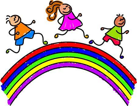 rainbow kids - toddler art series Stock Photo - 391285