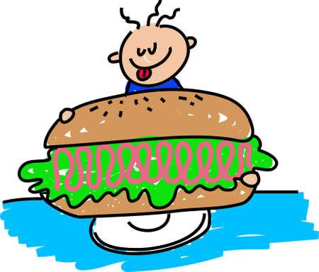 ham sandwich: giant ham sandwich - toddler art series