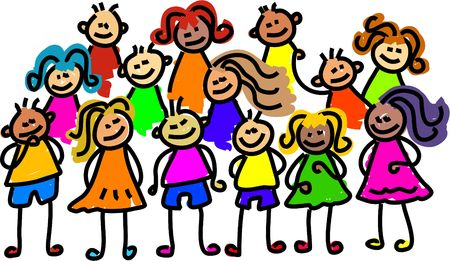 group photo - toddler art series Stock Photo - 391274