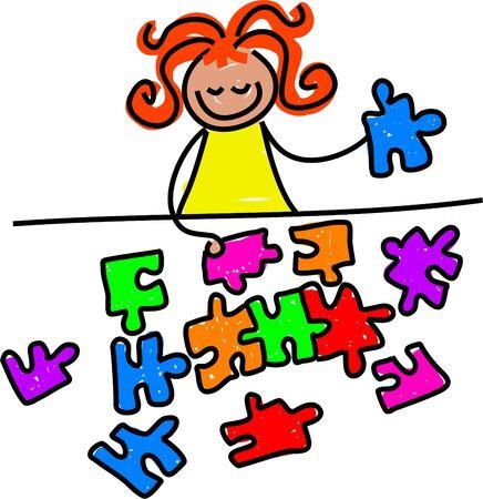 jigsaw kid - toddler art series photo