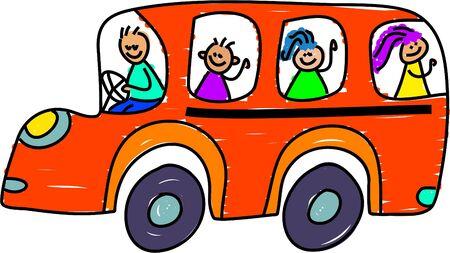 school bus - toddler art series photo