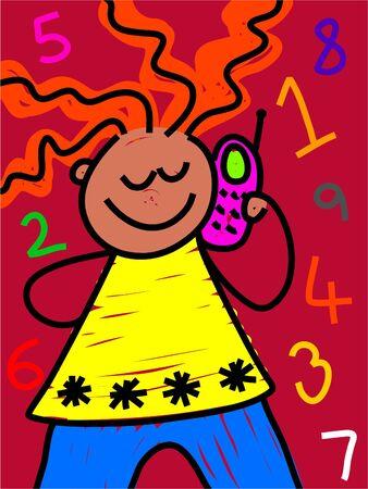 mobile kid - toddler art series Stock Photo - 402077