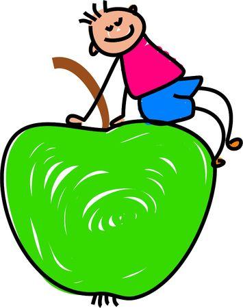edibles: mela kid - serie bambino arte
