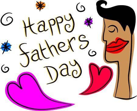happy Fathers Day: dise�o feliz del d�a de padres