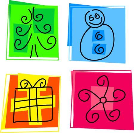 Christmas icons photo