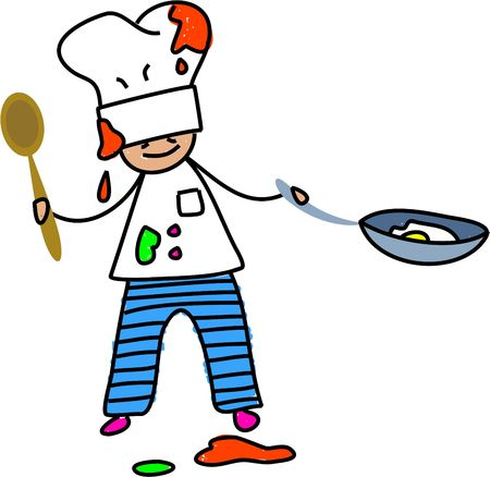 want: i want to be a chef when i grow up - toddler art series Stock Photo