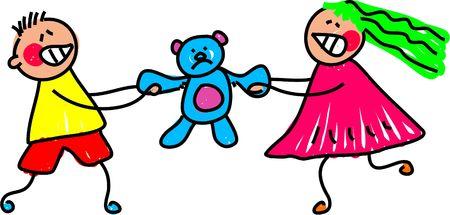 pull toy: poco m�s el argumento de los ni�os un juguete - Embarazo arte serie Foto de archivo