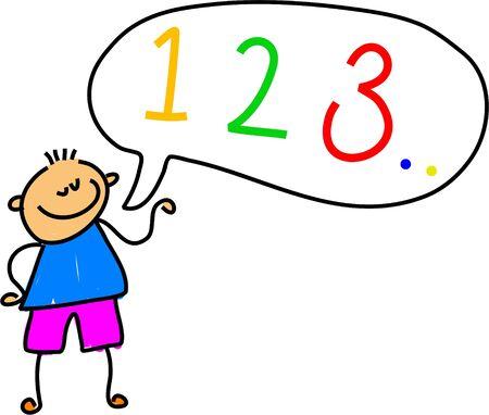 number kid - toddler art series Stock Photo - 451618