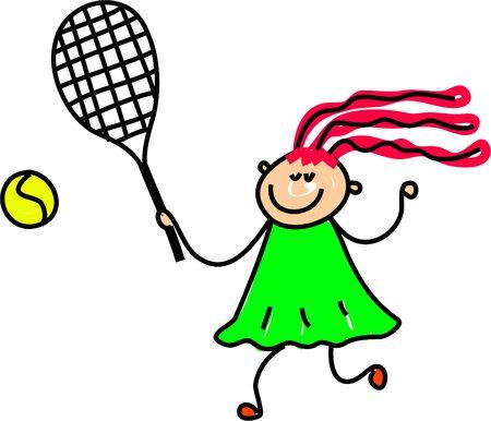 jugando tenis: ni�a jugar al tenis - Embarazo arte serie Foto de archivo