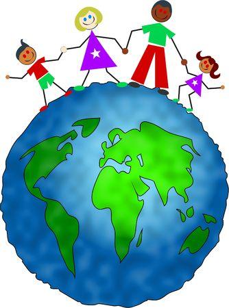 mixed race children: happy mixed race family