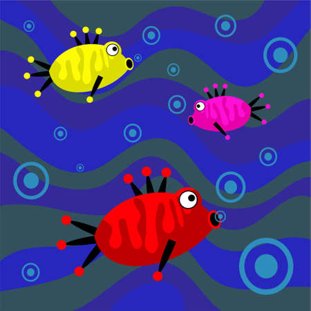 funky retro fish background photo