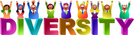 business diversity: diversity word - icon people series Stock Photo