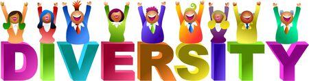 diversidad: palabra de la diversidad - serie de la gente del icono