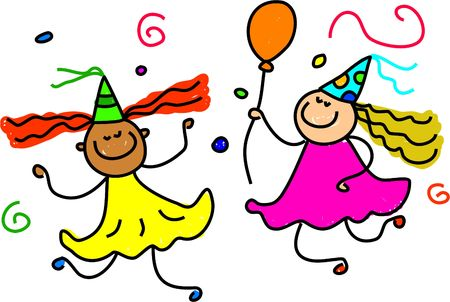 party girls - toddler art series Stock Photo - 485016