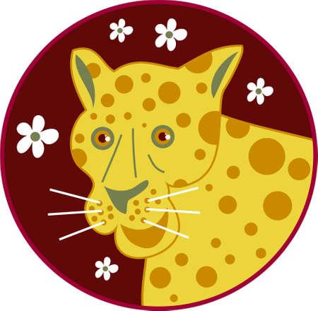 spotty: spotty leopard Stock Photo