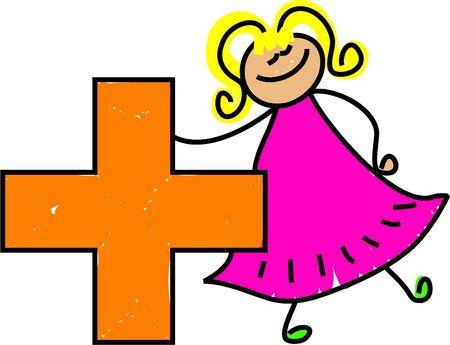 addition symbol: learning mathematical symbols - toddler art series