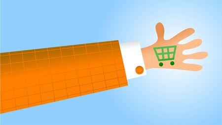 handy: handy shopping Stock Photo