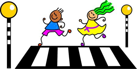 zebra crossing kids - toddler art series