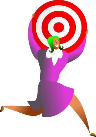 reaching the target Stock Photo - 544114