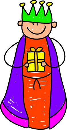 as one: happy little boy dressed up as one of the wisemen for the Christmas nativity play - toddler art series