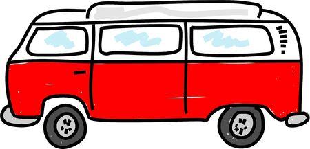 motorhome: camper camper veicolo - autobus serie d'arte