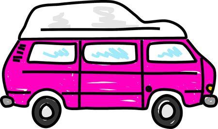 campervan: motorhome campervan vehicle - bus art series Stock Photo