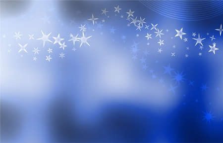 uncluttered: smooth elegant and uncluttered blue starry background design with room for text Stock Photo