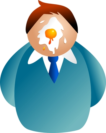 man with egg splattered on his face - icon people series photo