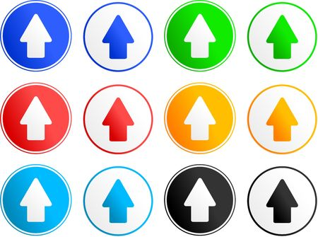 collection of arrow sign icons isolated on white photo