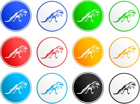 collection of dinosaur sign icons isolated on white photo