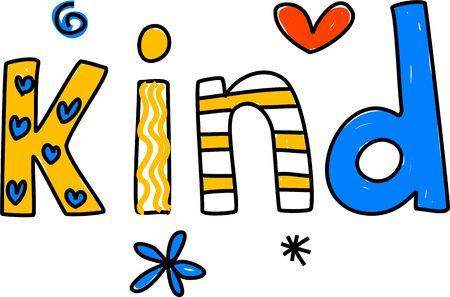 bondad: whimsical dibujo de la palabra TIPO aislados en blanco