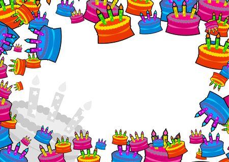 decorative birthday celebration cake page border design Stock Photo - 2448209