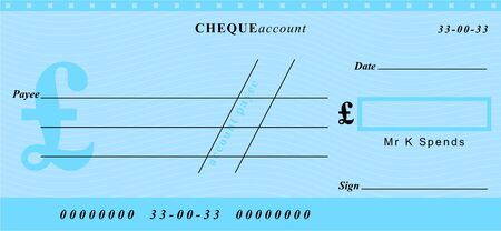 a generic cheque in great british pounds