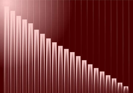 increments: stats graph background with results going up or down in small increments Stock Photo