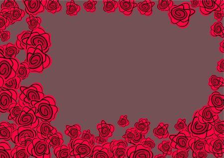 bordure de page: lunatique rose rouge page fronti�re conception graphique  Banque d'images