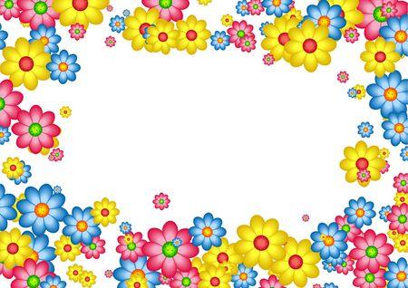 perimeter: decorative floral daisy page border frame design