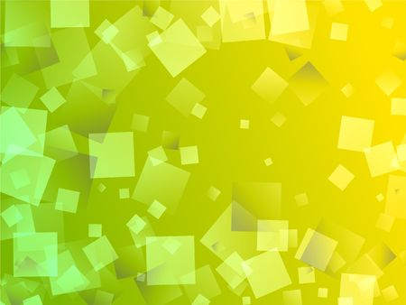 abstract square shapes greeny yellow background design