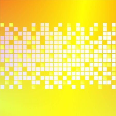yellow gold square blocks abstract background design Stock Photo