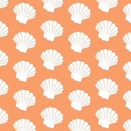 decorative repeating beach scallop shell wallpaper background design Stock Photo - 3048822