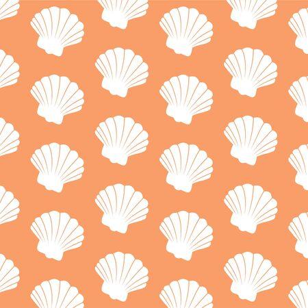 decorative repeating beach scallop shell wallpaper background design Stock Photo - 3048822