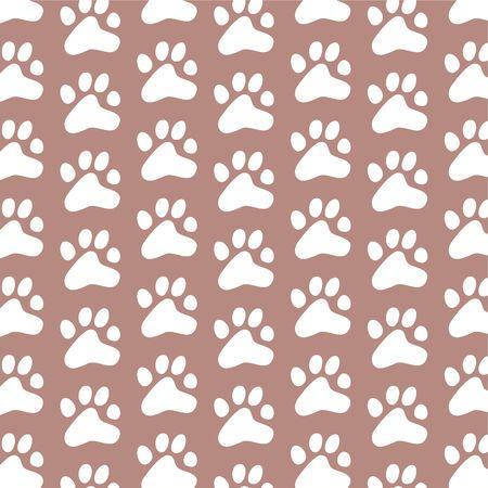 dekorative Muster wiederholen Generika paw print Tapete Hintergrund Design