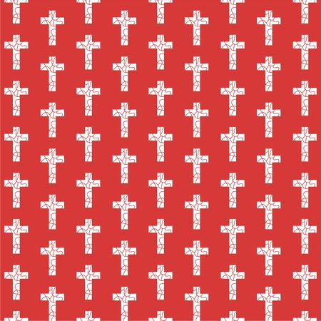 patterned wallpaper: decorative repeating cross pattern wallpaper background design Stock Photo