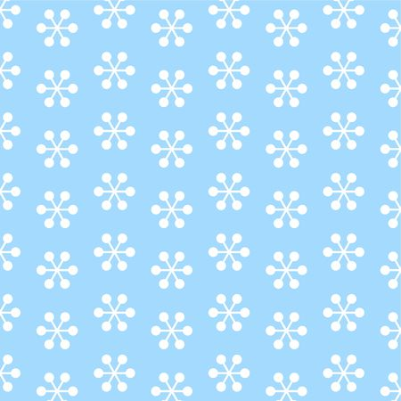 patterned: decorative retro snowflake patterned wallpaper background design Stock Photo
